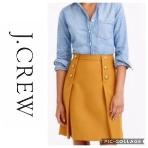 J. Crew Mustard Sailor Skirt, Size 8